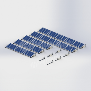 Aluminum Flat Roof Ballasted Solar Mounting Structure