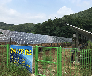 200KW Solar Ground Mount installed in South Korea